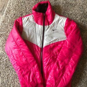 Nike retro pink puffer jacket